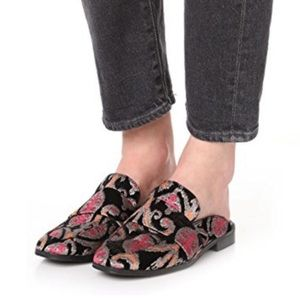 Free People Brocade At Ease Loafer Size 6 NEW